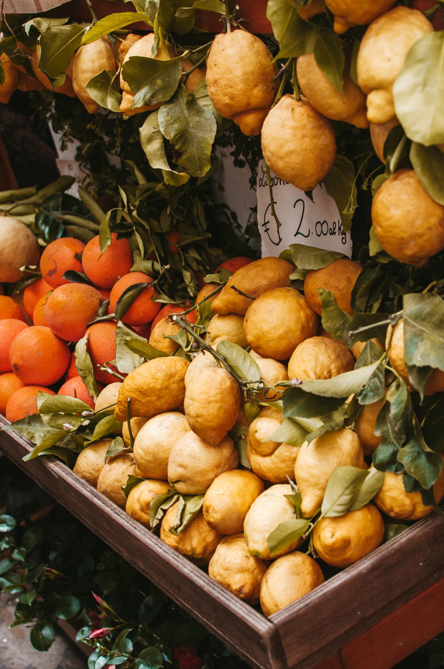 Cytryny, lemoniada, Amalfi Coast, Positano, lemons