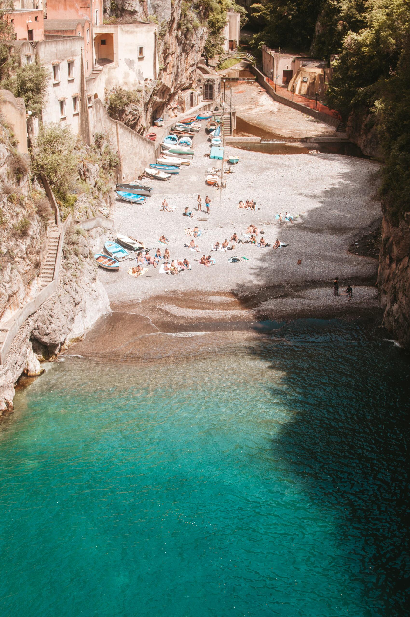 Furore Beach, Wybrzeże Amalfitańskie, Fiordo di Furore, costiera amalfitana