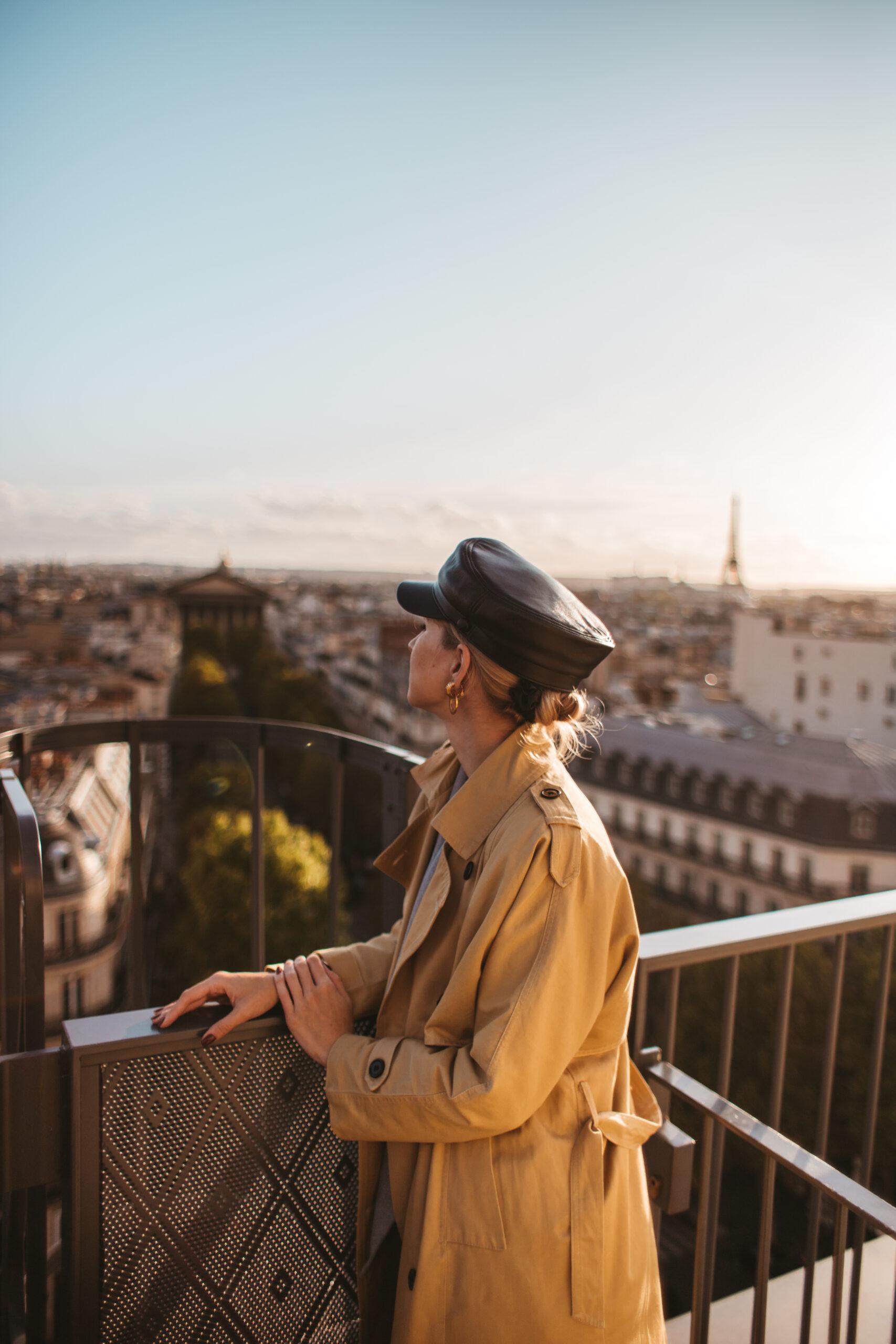 Printemps, Paris, 9 arrondissement, 9 dzielnica Paryża, dachy paryża, Iron Lady, Wieża Eiffla, widok na wieżę Eiffla, paris rooftop