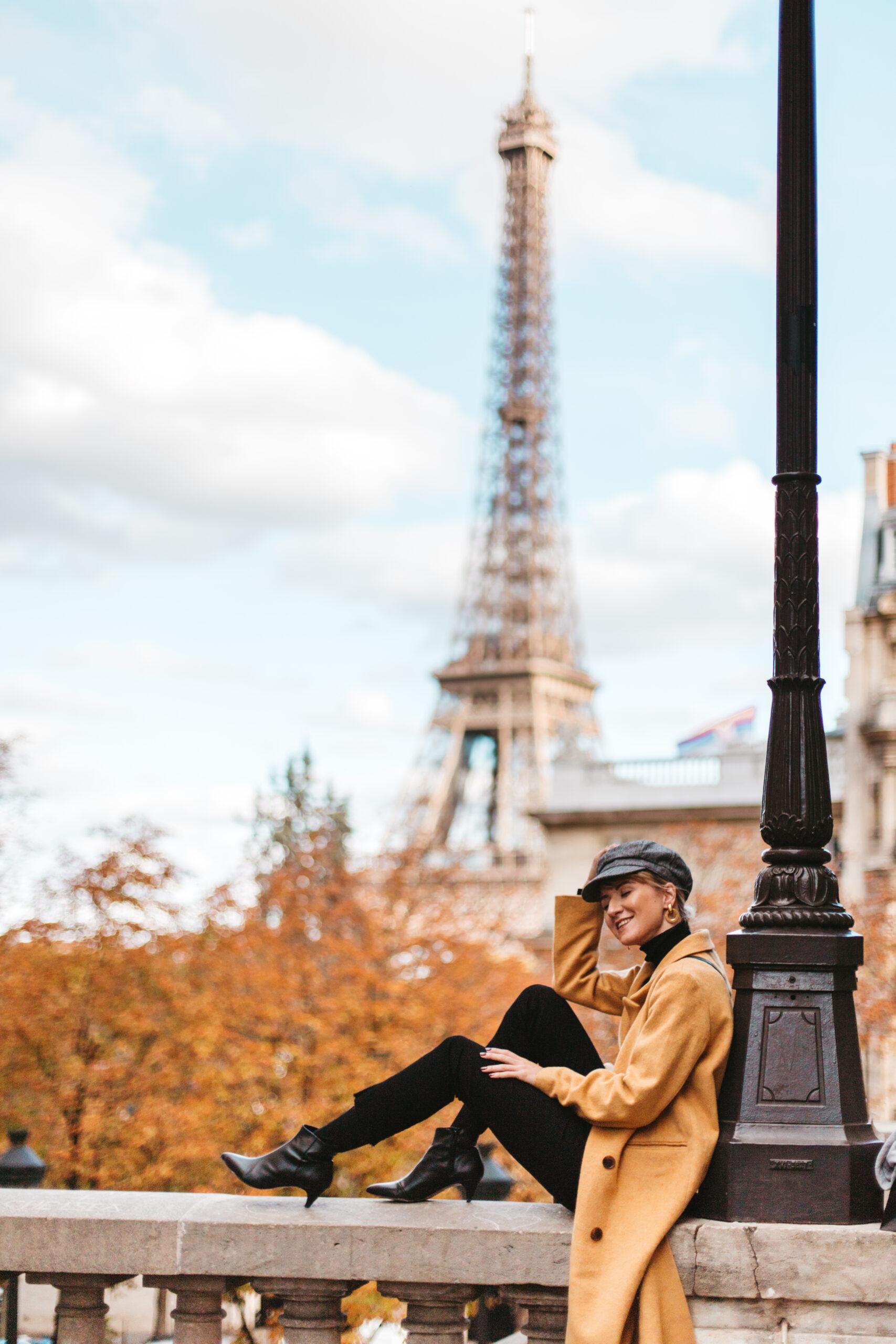 Paryż jesienią, Wieża Eiffla, Żelazna dama, jesienny paryż, Avenue de Camoens