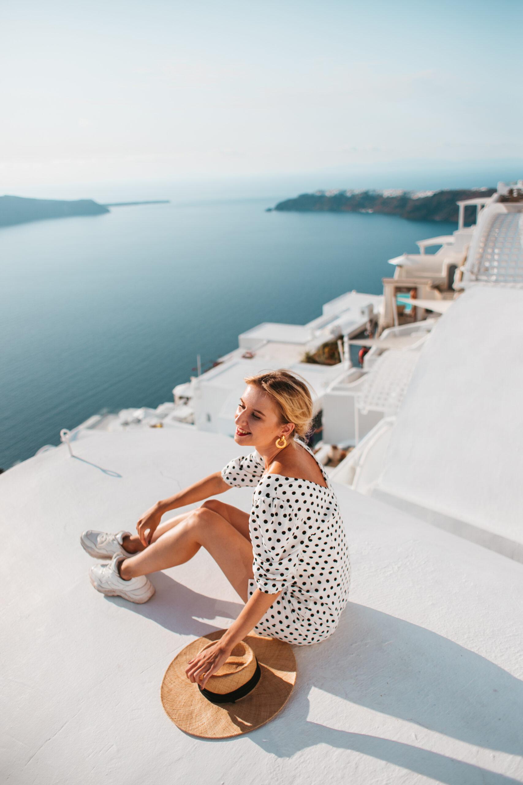 Grecja wakacje Santorini Imerovigli, Oia co zobaczyć, caldera, kaldera, blog podróżniczy, blogerka