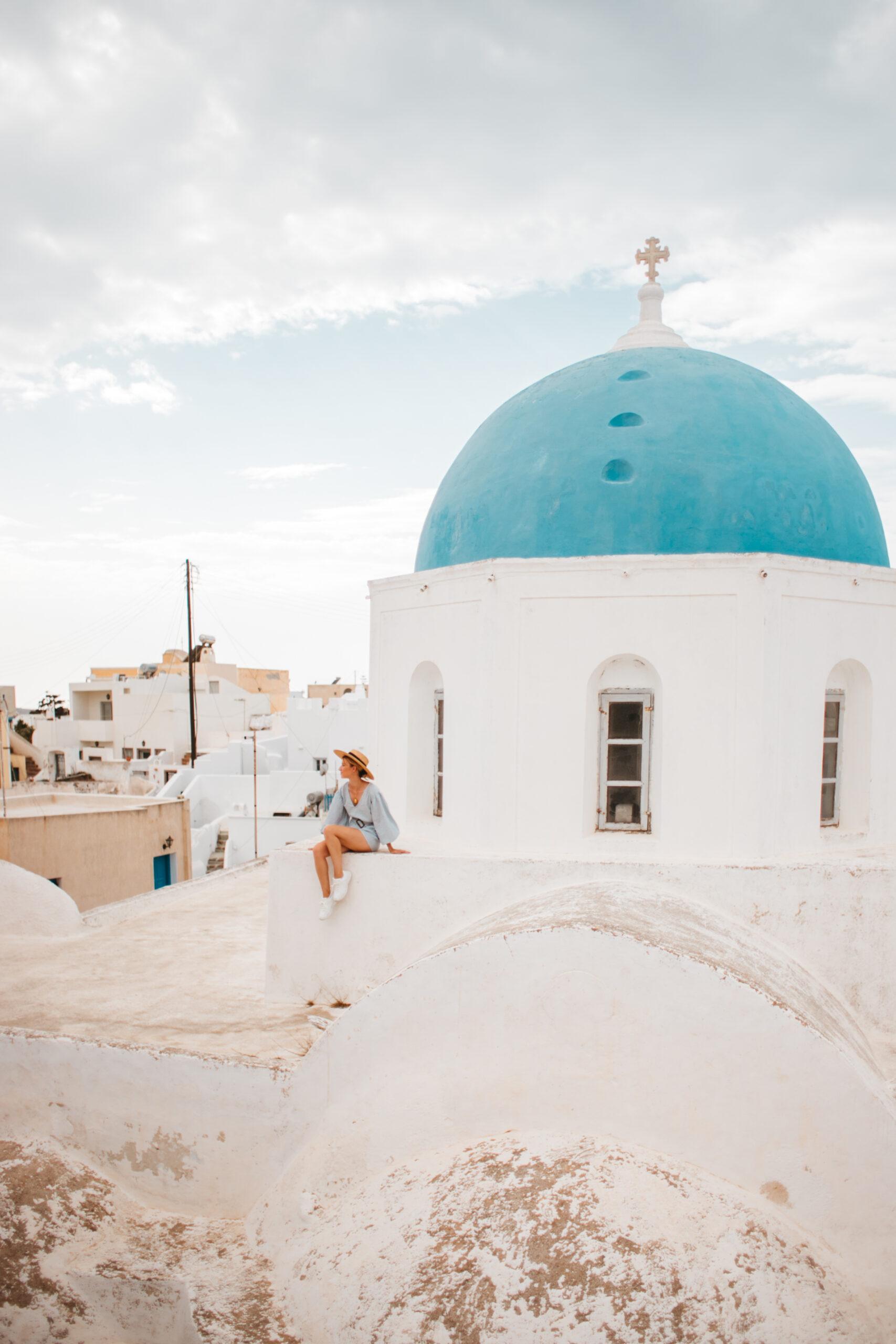 Santorini co zobaczyć Megalochori blog podrozniczy