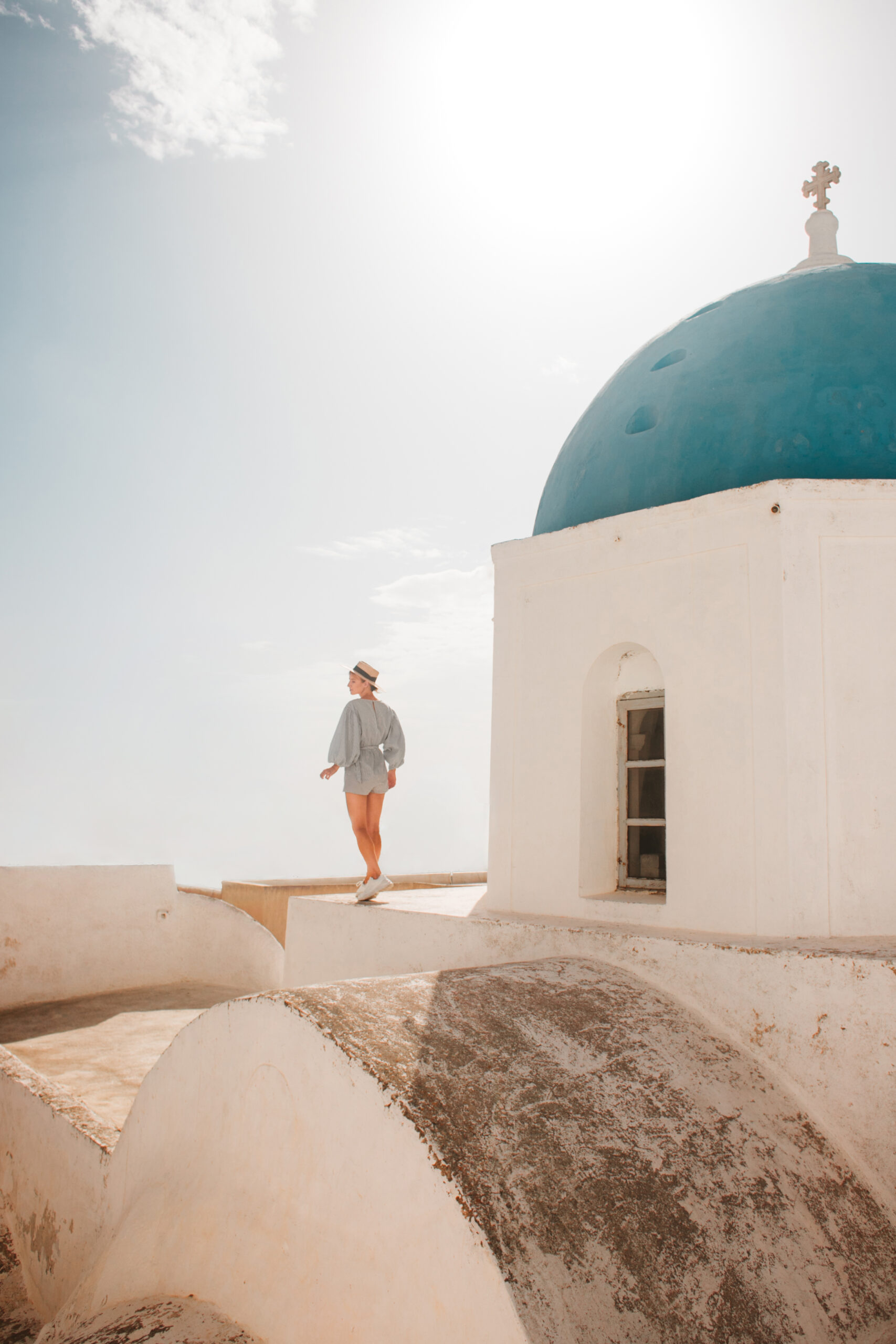 Megalochori Santorini Greece blog polski, podróż do Grecji