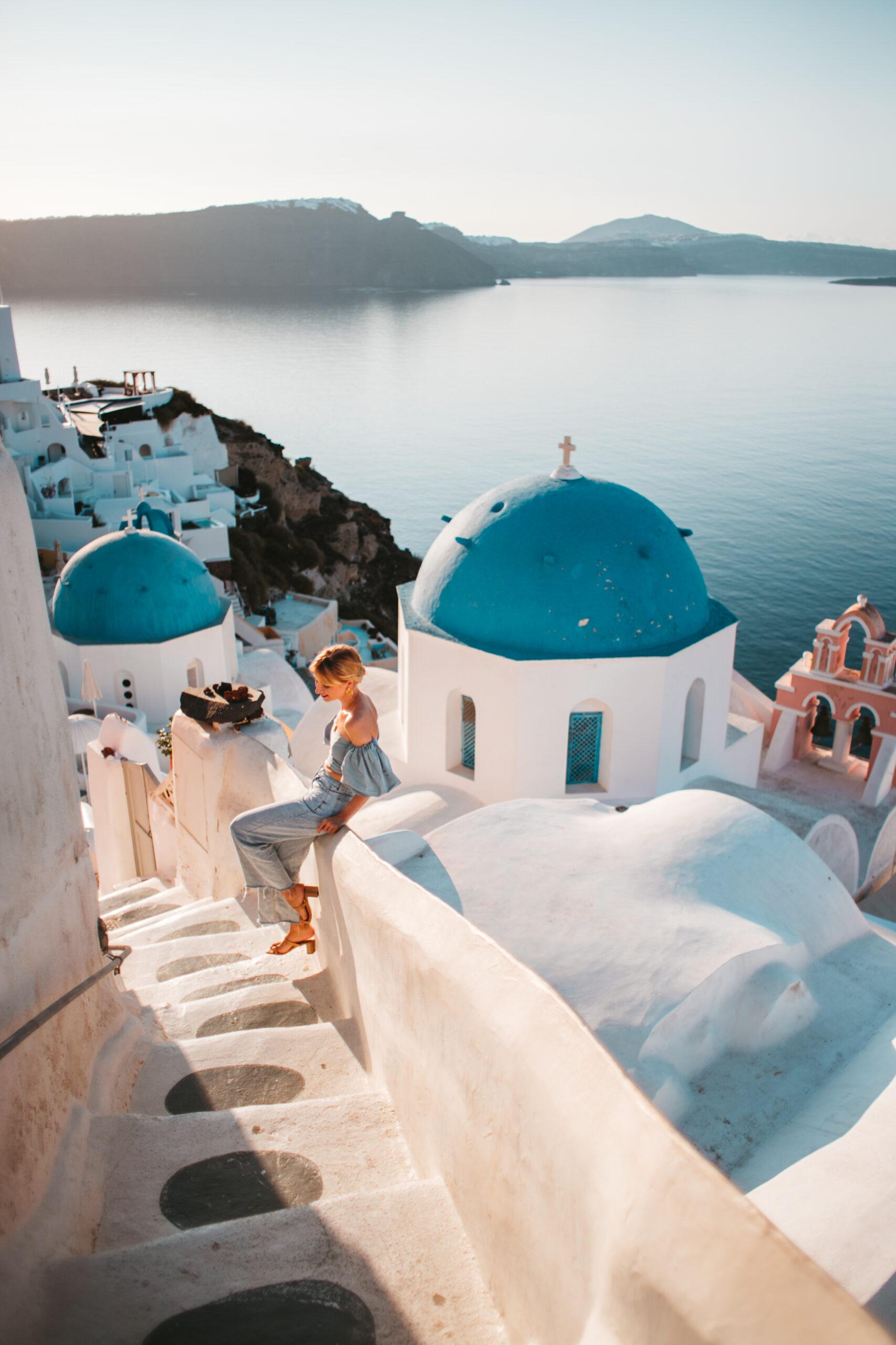Saint Spyridon Church, Oia blue dome, three blue domes oia Santorini Greece