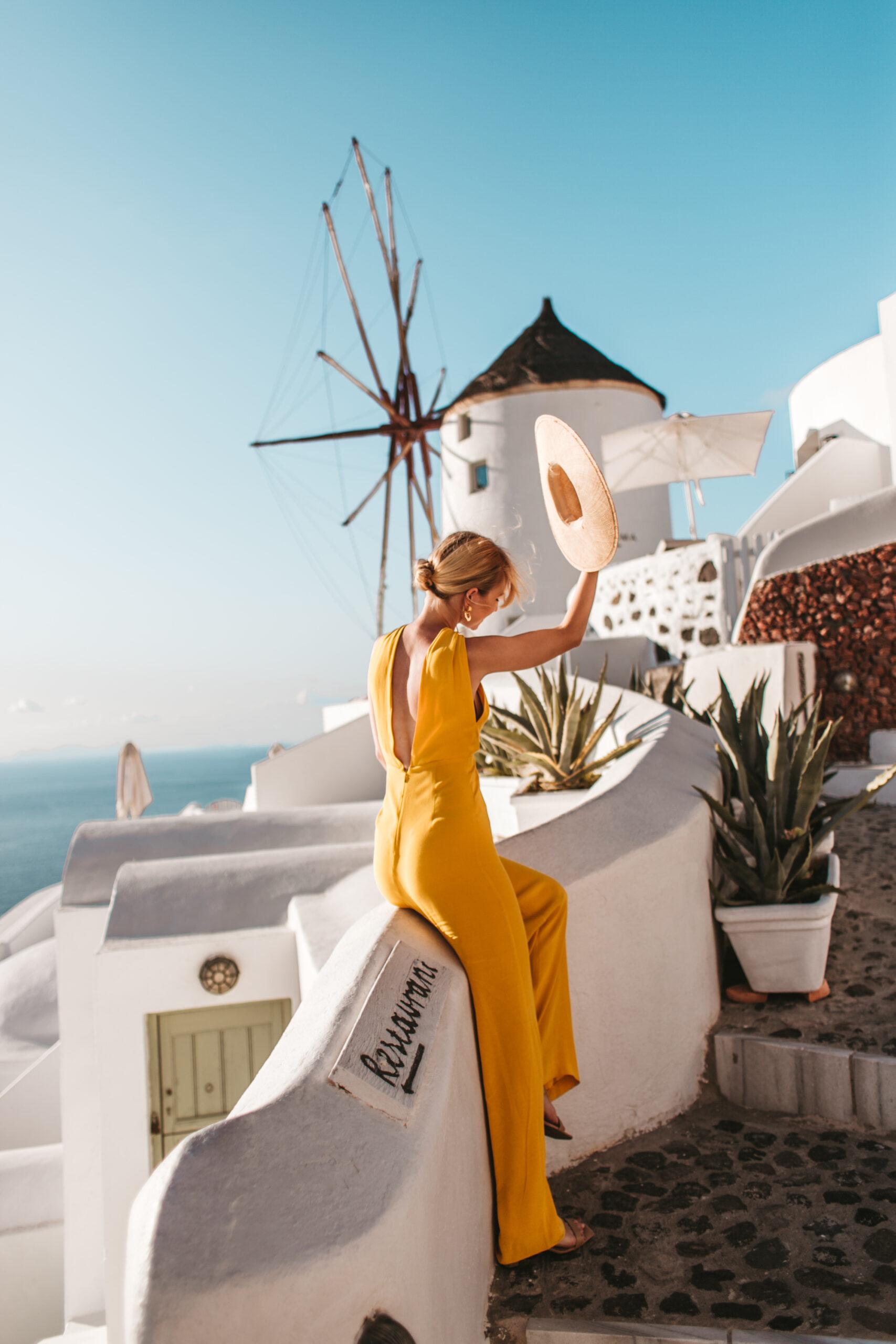 Wiatraki Santorini Grecja, Oia, wiatrak, hotel Oia, blogerka, blog podrozniczy, blog lifestylowy