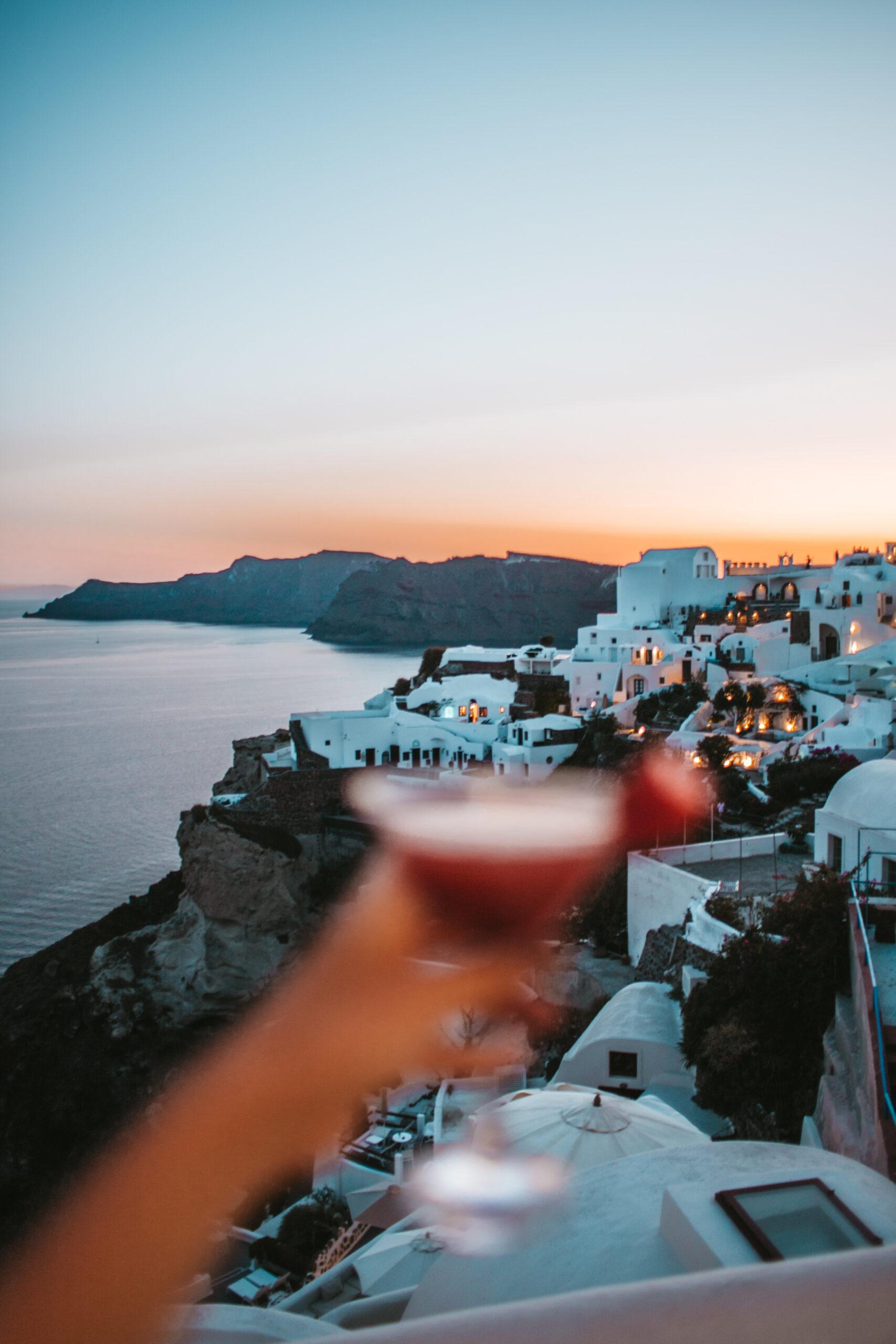Sunset in Oia, Santorini sunset, night, caldera view, zachód słońca Santorini Oia, kaldera Oia, caldera Oia