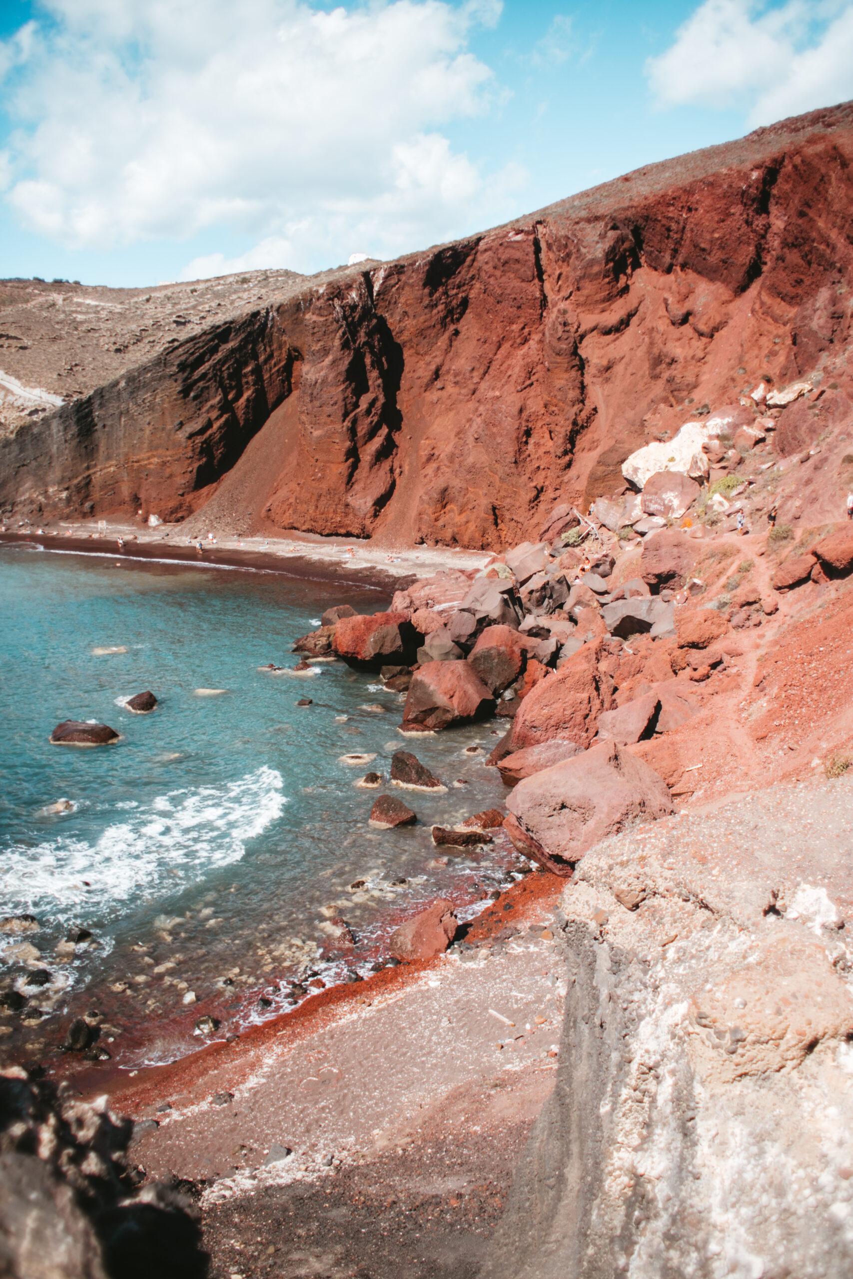 Czerwona plaża Santorini, co zobaczyć Santorini, atrakcje, red beach
