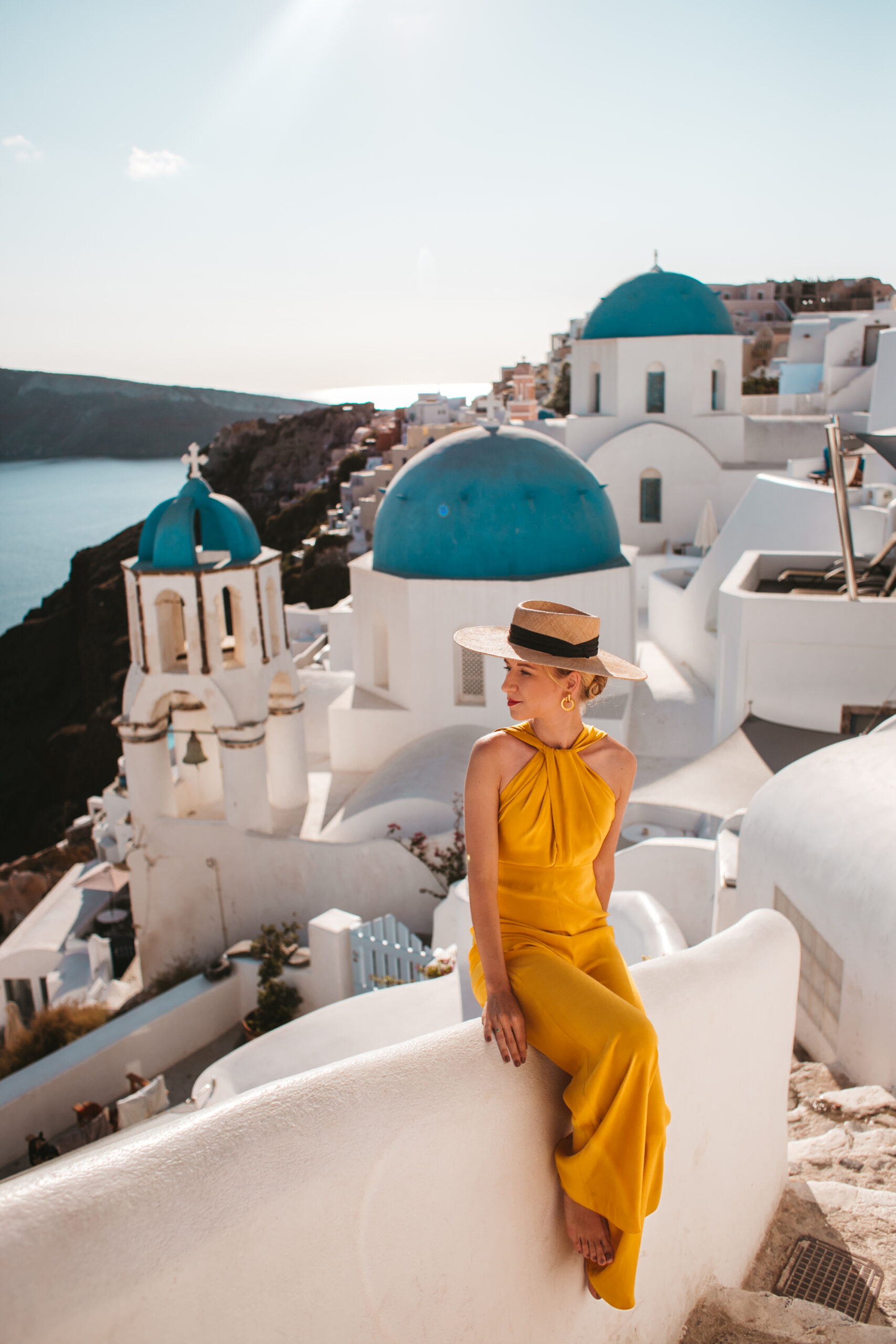 Saint Spyridon Church And Anastasis Church Oia, blue domes Oia, instagrammable place, Santorini Trip